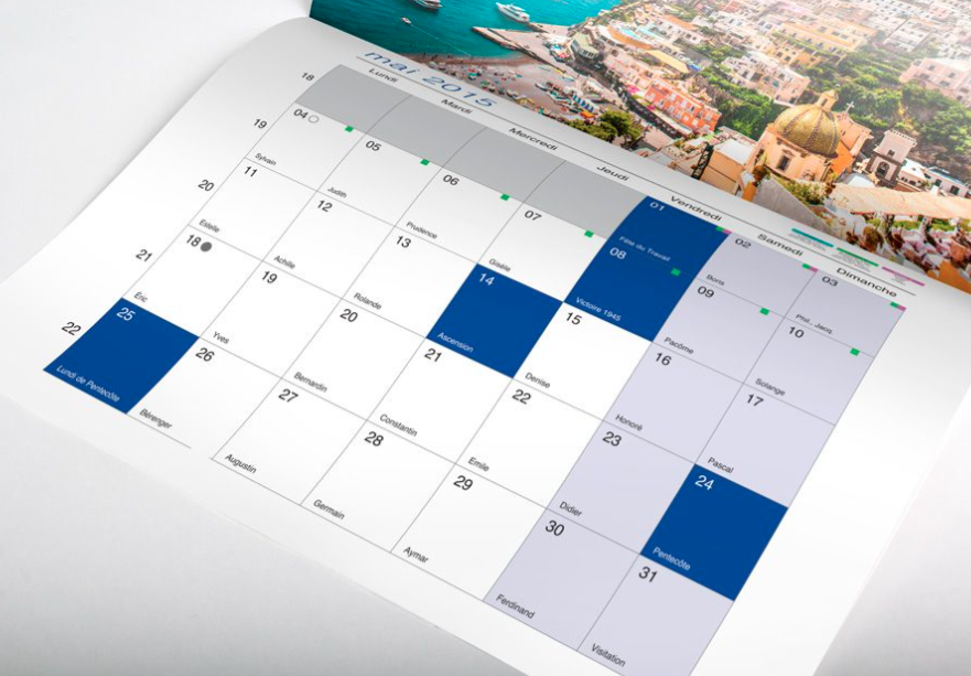 calendrier relie